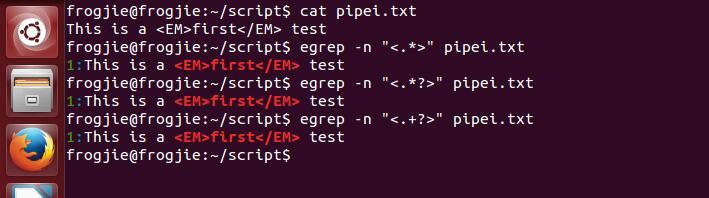 Does grep regular matching under Linux not support lazy mode