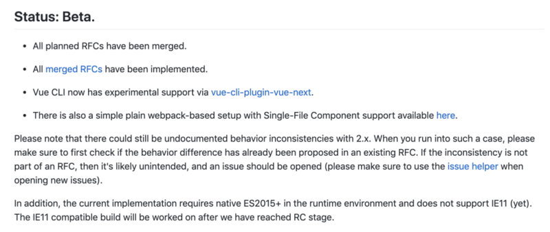 Heavy weight! Vue 3.0 released for public beta