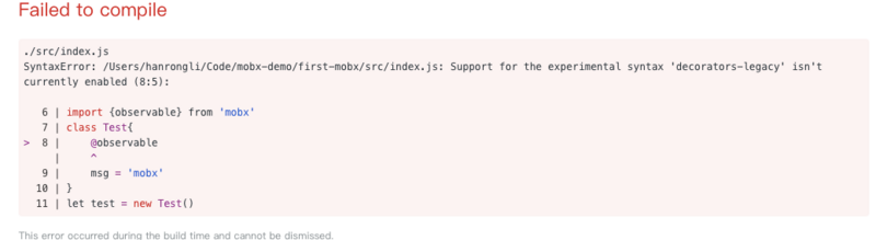 Problems with mobx