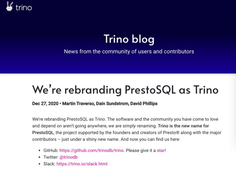 Prestosql renamed Trino; farewell, flash; Huawei off the shelves, Tencent all games, think no technology weekly