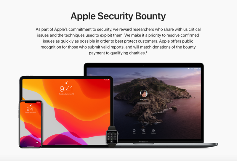 Apple has officially launched a new vulnerability submission reward plan, with a bonus of up to  .5 million