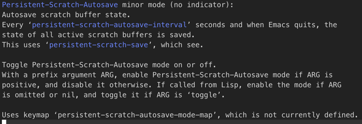 Emacs plug in ( two ) ——Persistent scratch