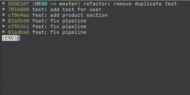 Use git rebase to merge historical submission and modification records commit message
