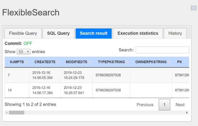Brief introduction to ABAP's open SQL and hybrid commerce's flexible search