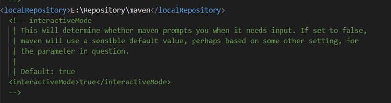 Modify the local default location of Maven package