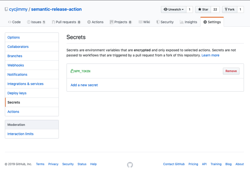 Using GitHub actions for automatic version Publishing
