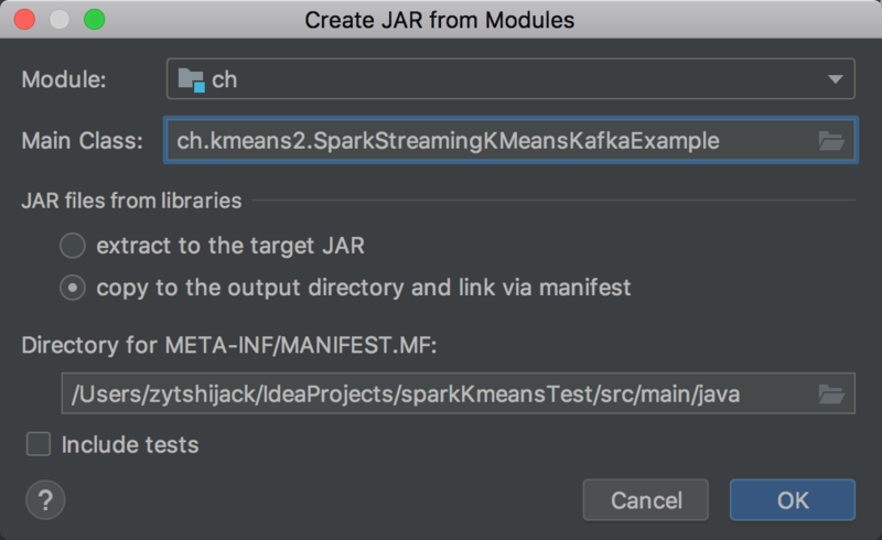 Spark java + Scala project package (jar)