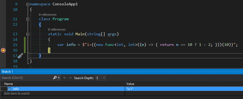 Why use interpolated strings instead string.format