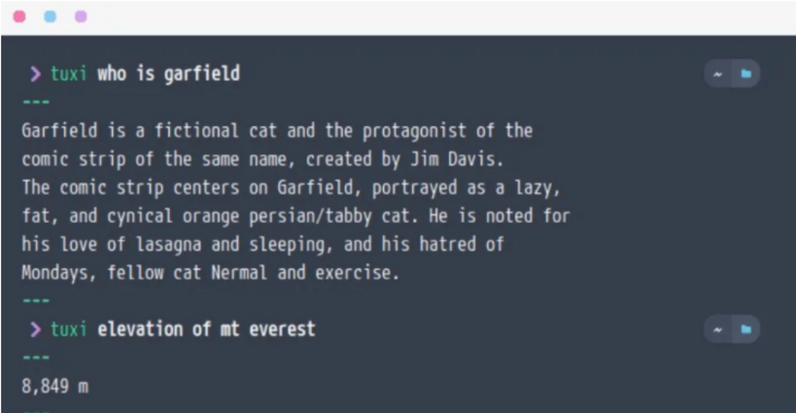 Play the command line as