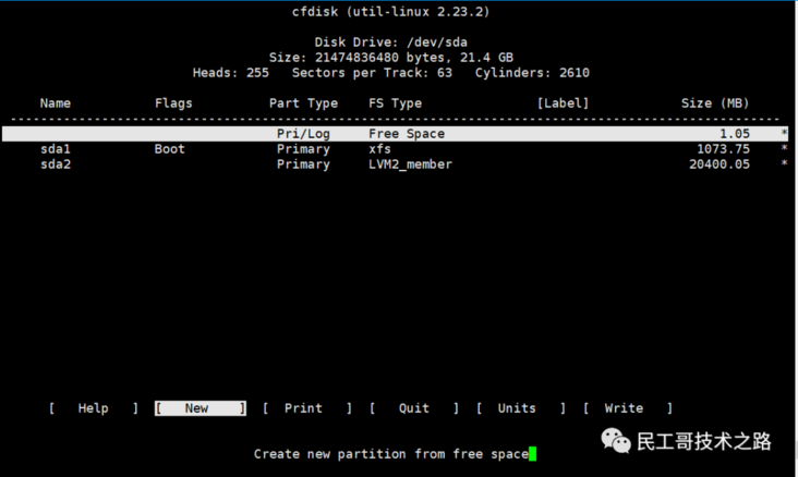 Learn a Linux command every day (116): cfdisk