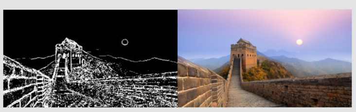PHP implements a simple image edge detection