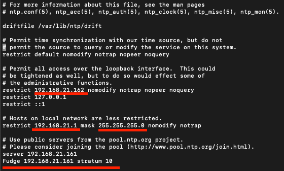 NTP time server configuration under Linux