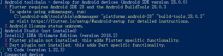 Solutions to flutter: Android license status unknown  Errors under