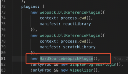 Using cache to improve the speed of secondary construction in webpack