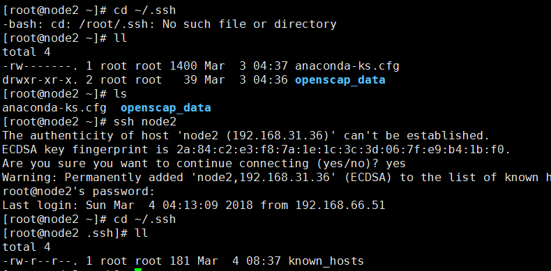 Execute Cd ~. SSH to find SSH directory not found