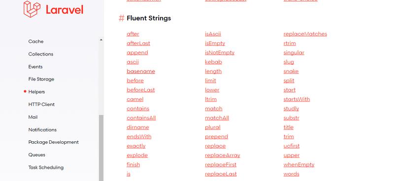 Talking about the convenient string operation of laravel 7