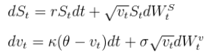 Heston model for option pricing in R language