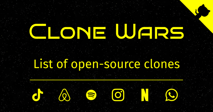 The Clone Wars? More than 100 well-known website clone version of open source code