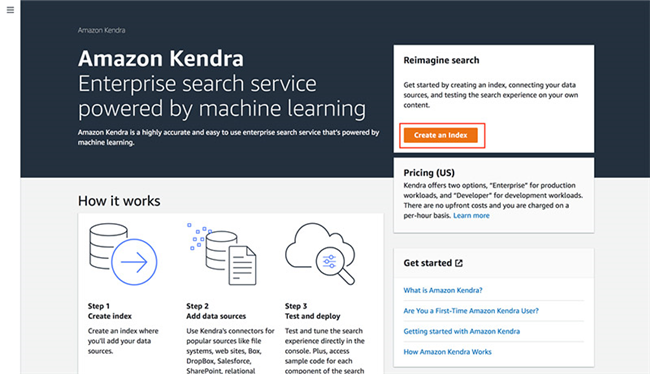 Kendra, a self built enterprise search engine, is very simple