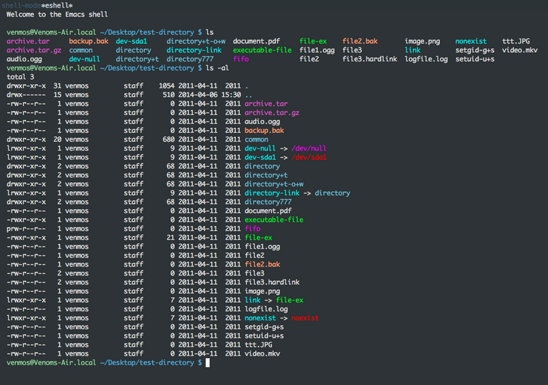 OSX Terminal or Emacs Shells color | Develop Paper
