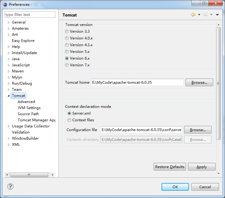 Converting java project into Tomcat project