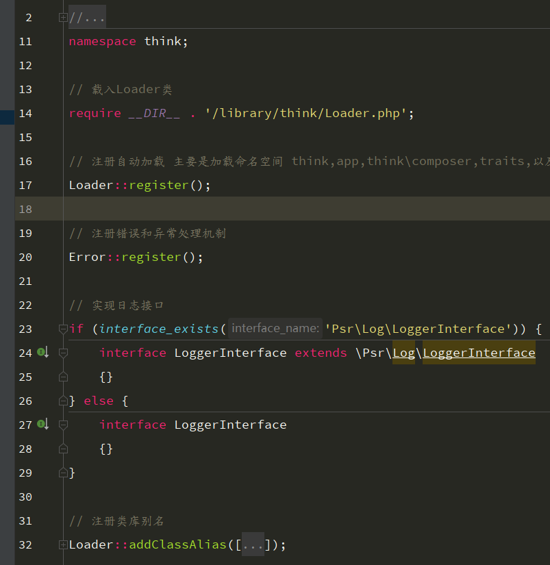 Automatic loading mechanism such as tp5.1 source code snooping