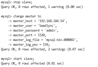 Master slave replication of MySQL