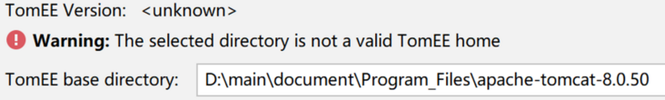 """""""The selected directory is not a valid TomEE home"""""""
