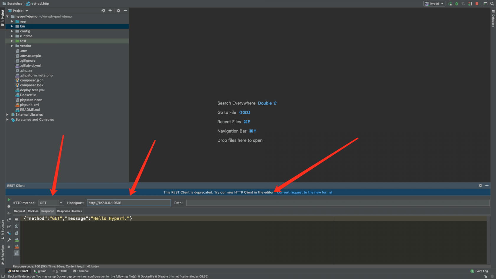 How to debug hyperf gracefully with phpstorm