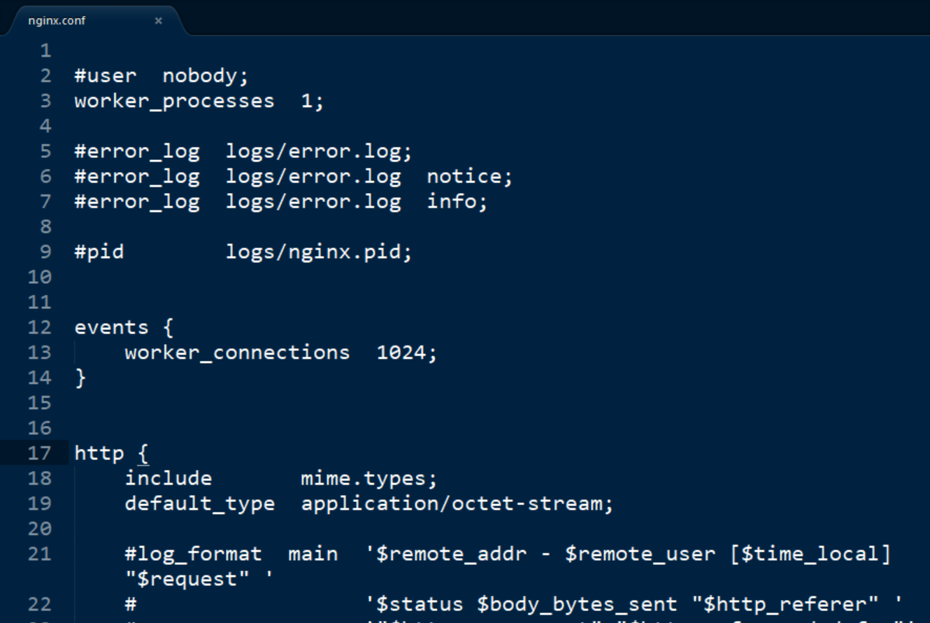 Sublime text extension with syntax highlighting of nginx configuration file