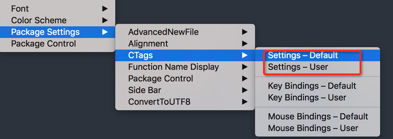 Sublimetext plug in notes
