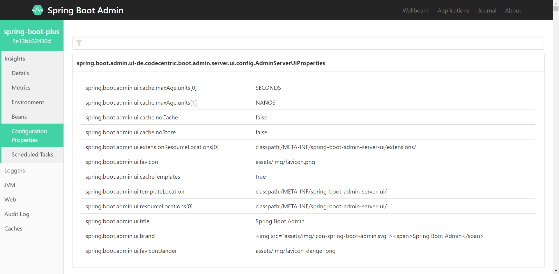 Spring-boot-plus integrated Spring Boot Admin management and
